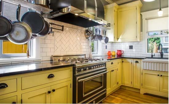 رنگ زرد در آشپزخانه