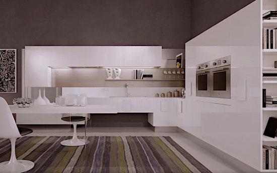 کابینت آشپزخانه سفید ترکیه