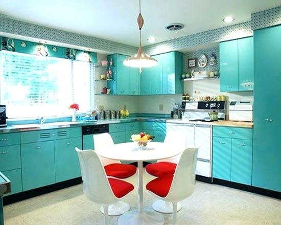 کابینت آشپزخانه فیروزه ای