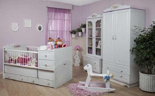 کمدلباس نوزاد دختر سفید